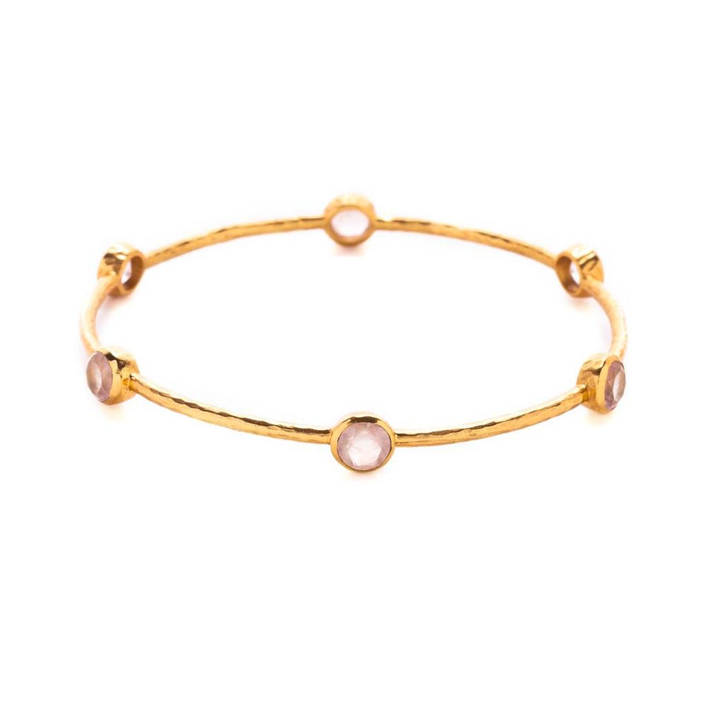 Julie Vos Milano 6-Stone Bangle - Rose Quartz