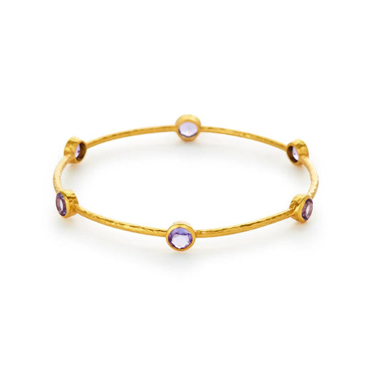 Julie Vos Milano 6 Stone Bangle - Amethyst