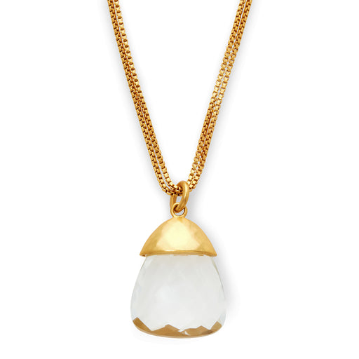 Julie Vos Savannah Pendant Gold - Clear Crystal