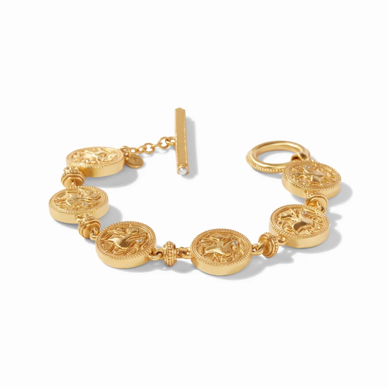 Julie Vos Coin Double Sided Bracelet - Gold, Black