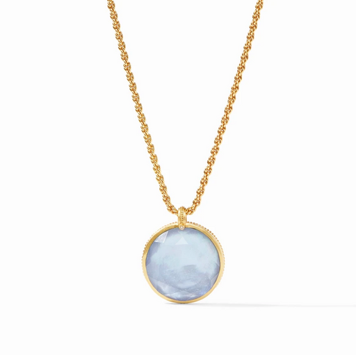 Julie Vos Coin Statement Pendant - Ice Blue