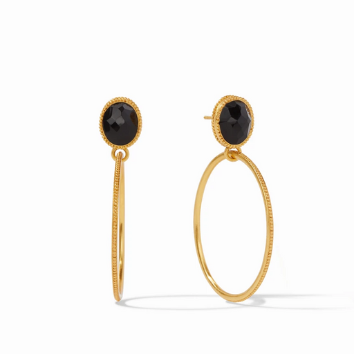 Julie Vos Verona Statement Earring - Black