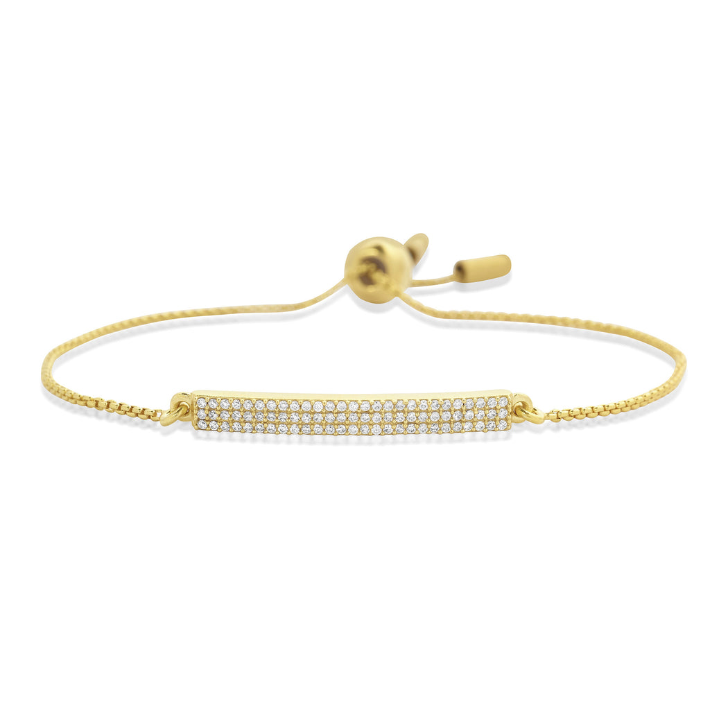 Pave Bar Chain Bracelet