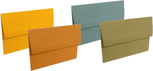 Earth toned envelopes