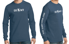 Load image into Gallery viewer, Long-Sleeve Navy T-Shirt