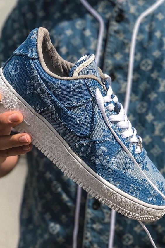 Air Force 1 x Sup Lv Denim Custom