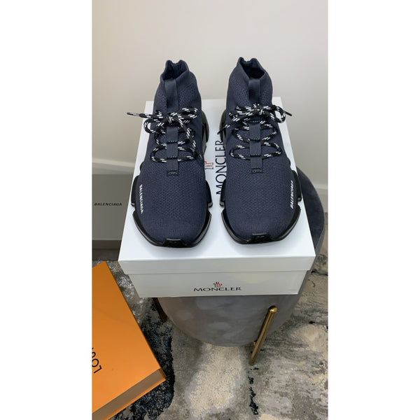 BALENCIAGA SPEED SOCK LACED GREY BLACK