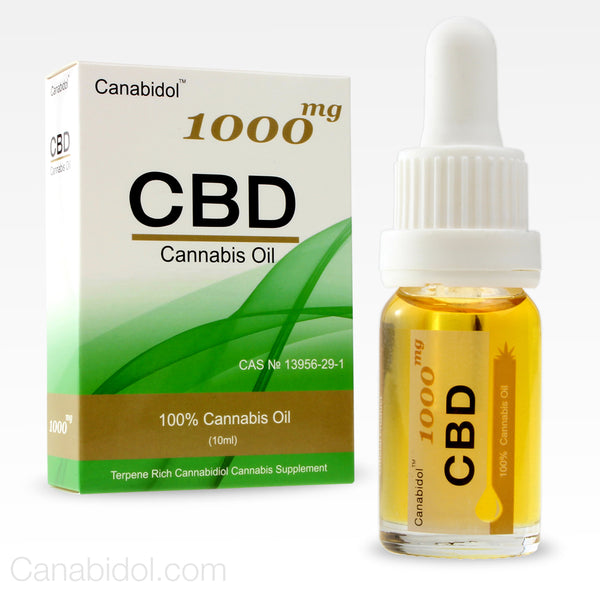 Canabidol™ Refined Cannabis CBD Oil Drops 1000mg