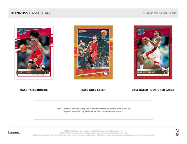 2020-21 Panini Donruss Basketball Hobby Box