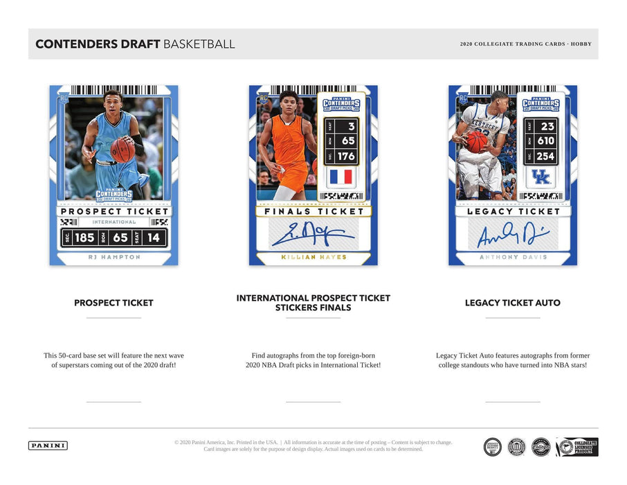 2020-21 Panini Contenders Draft Picks Basketball Hobby Box
