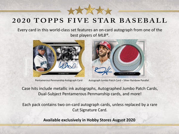 2020 Topps Five Star Baseball Hobby Box