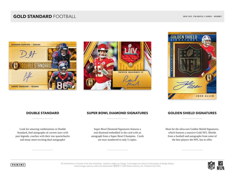2020 Panini Gold Standard Football Hobby Box