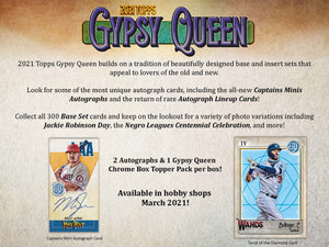 2021 Topps Gypsy Queen Baseball Hobby Box (Pre-Sale)