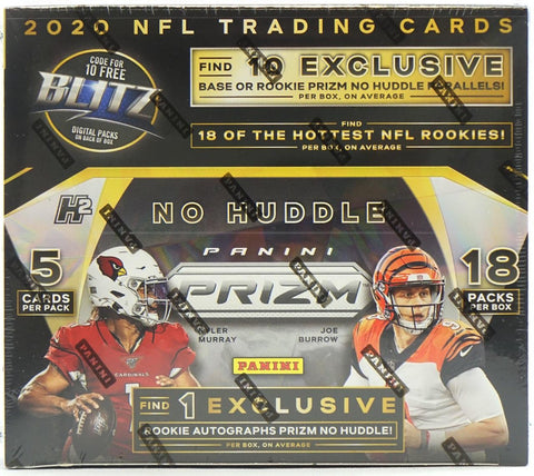 2020 Prizm No Huddle Football Hobby Box