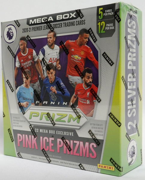 2020-21 Panini Prizm English Premier League Soccer Mega Box (Pink Ice Prizms)