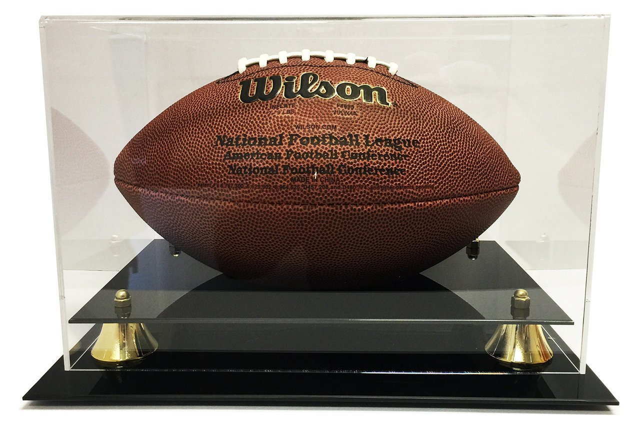 Deluxe Acrylic Football Display Case - Clear Back