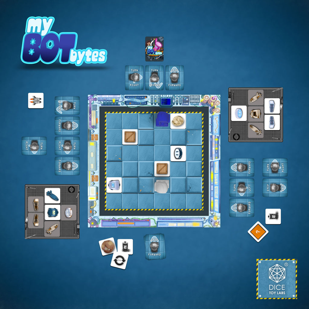 MY BOT BYTES, INDIAN, FAMILY BOARD GAMES, KIDS, STEM