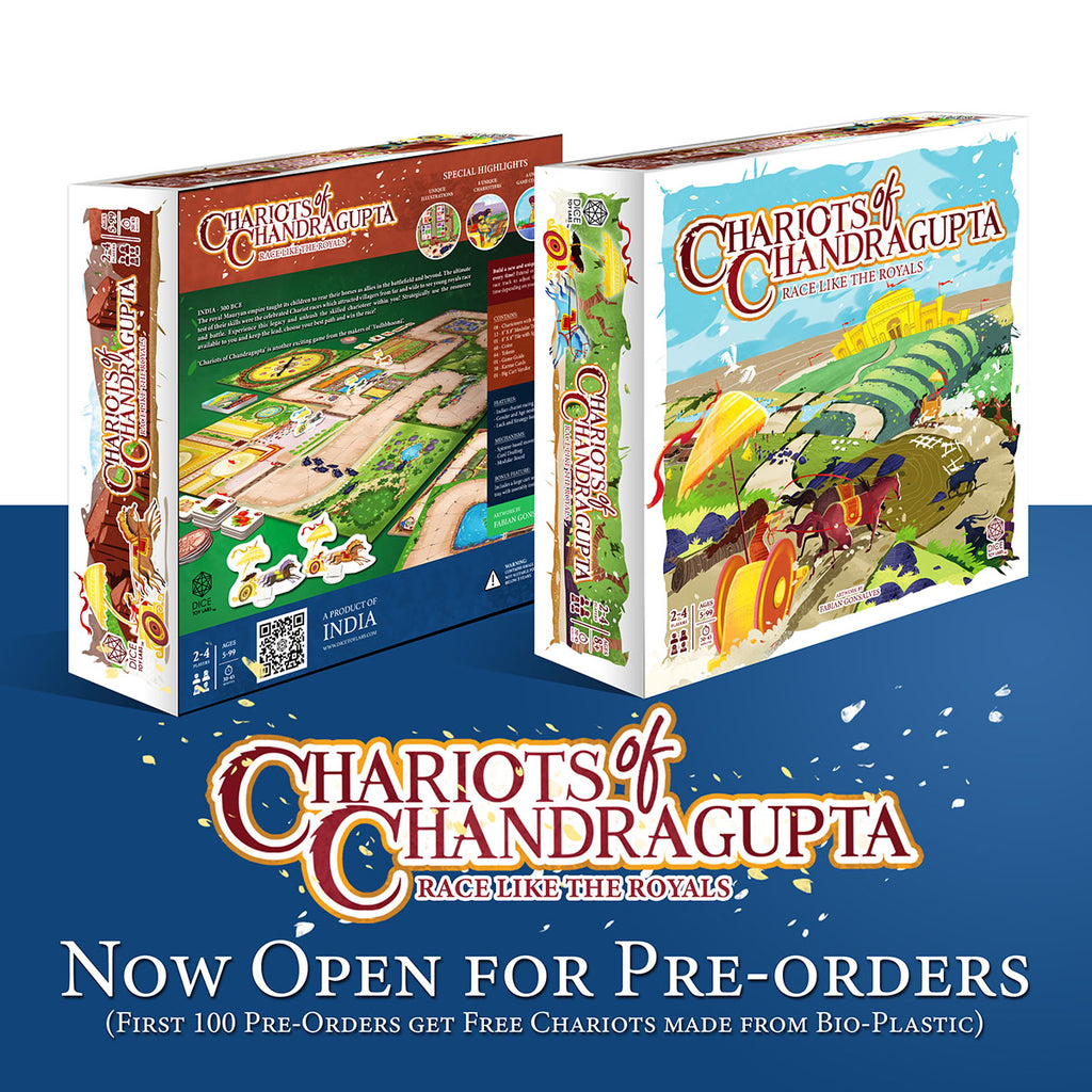 chariots of chandragupta indian india board game racing old history publisher good game family