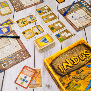 indus, indian, board game, flip and write, made in india, board games from india