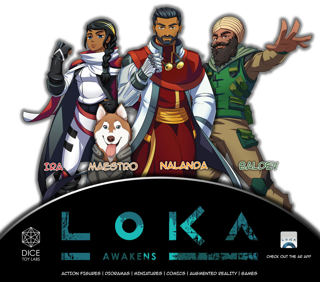 loka indian comic characters sci-fi post-apocalyptic earth climate change science scientist