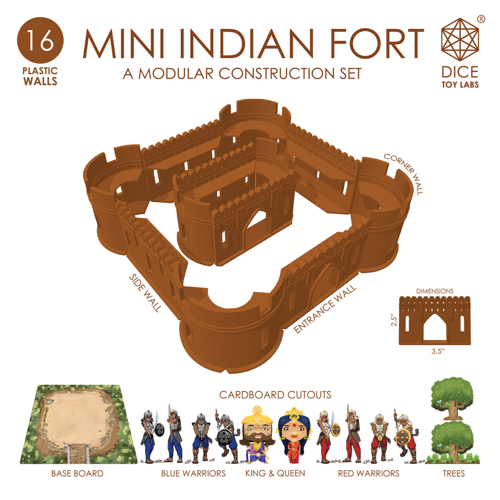mini indian fort components