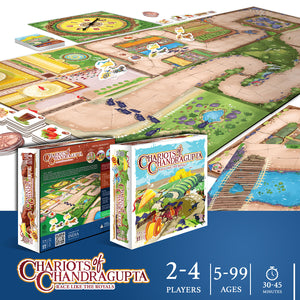 CHARIOTS OF CHANDRAGUPTA | 2-4 Players | AGES: 5+ | INTL