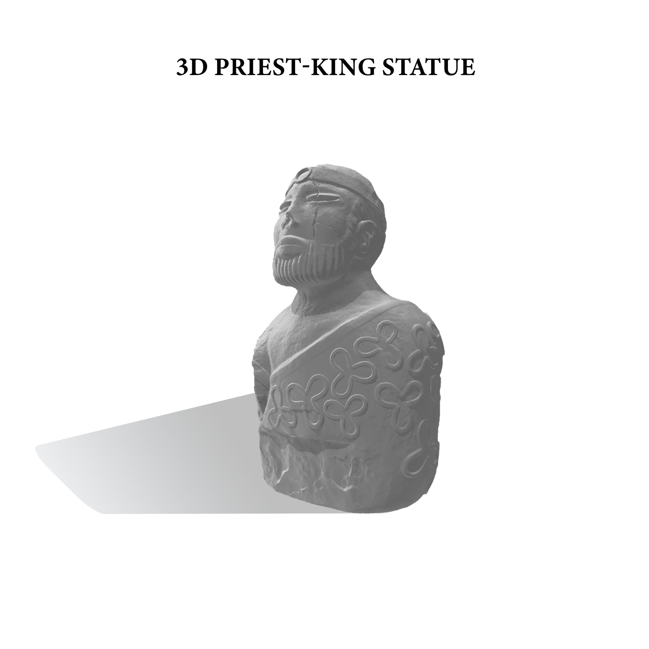 3D PRIEST-KING STATUE