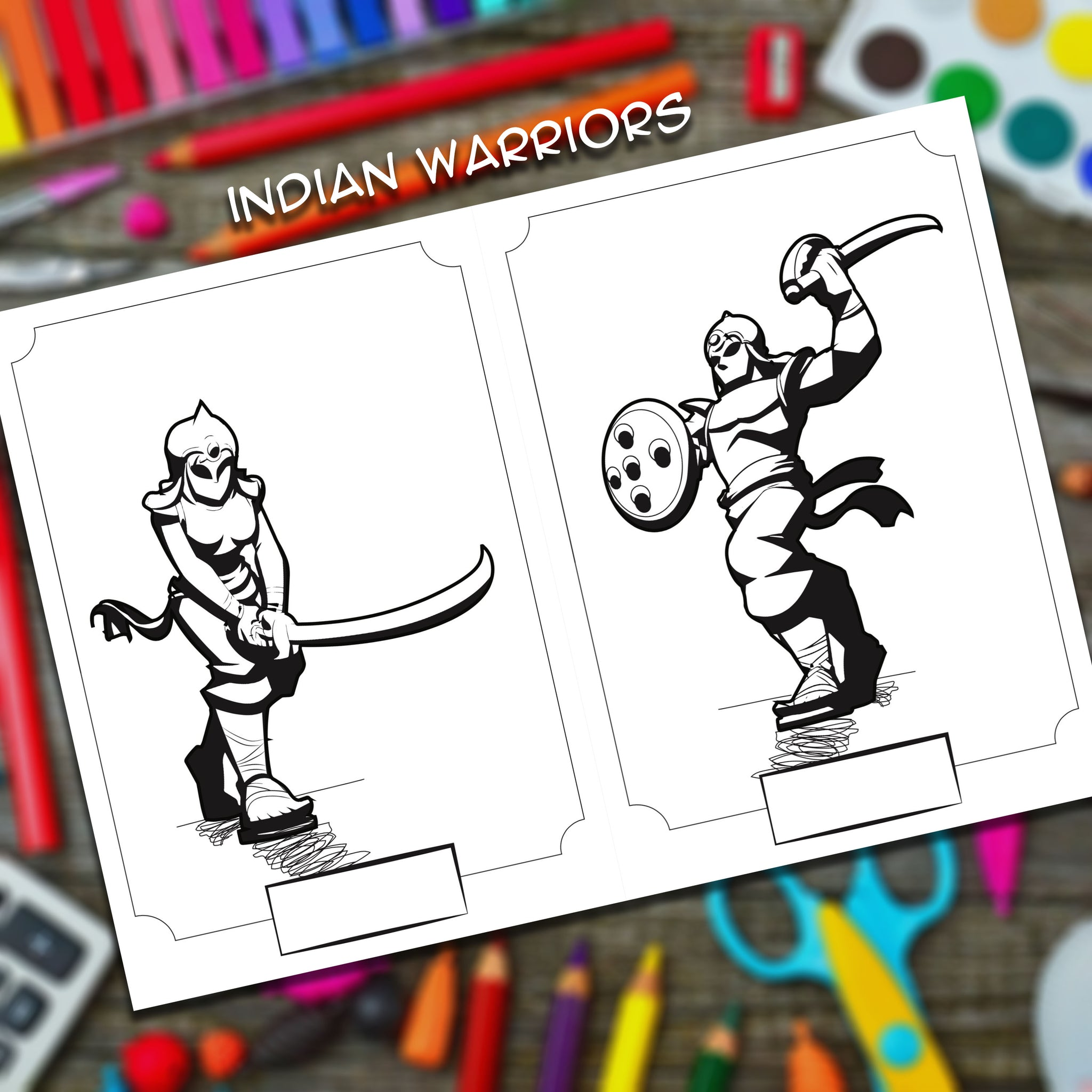 Yudhbhoomi Colouring And Sticker Book With Indian Warriors And Forts