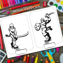 Load image into Gallery viewer, yudhbhoomi indian war themed colouring book stickers art kids children fort chariot warriors