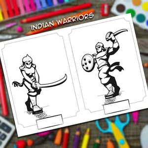 yudhbhoomi indian war themed colouring book stickers art kids children fort chariot warriors