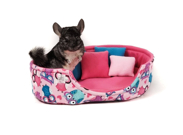 chinchilla cuddle cup fleece bed