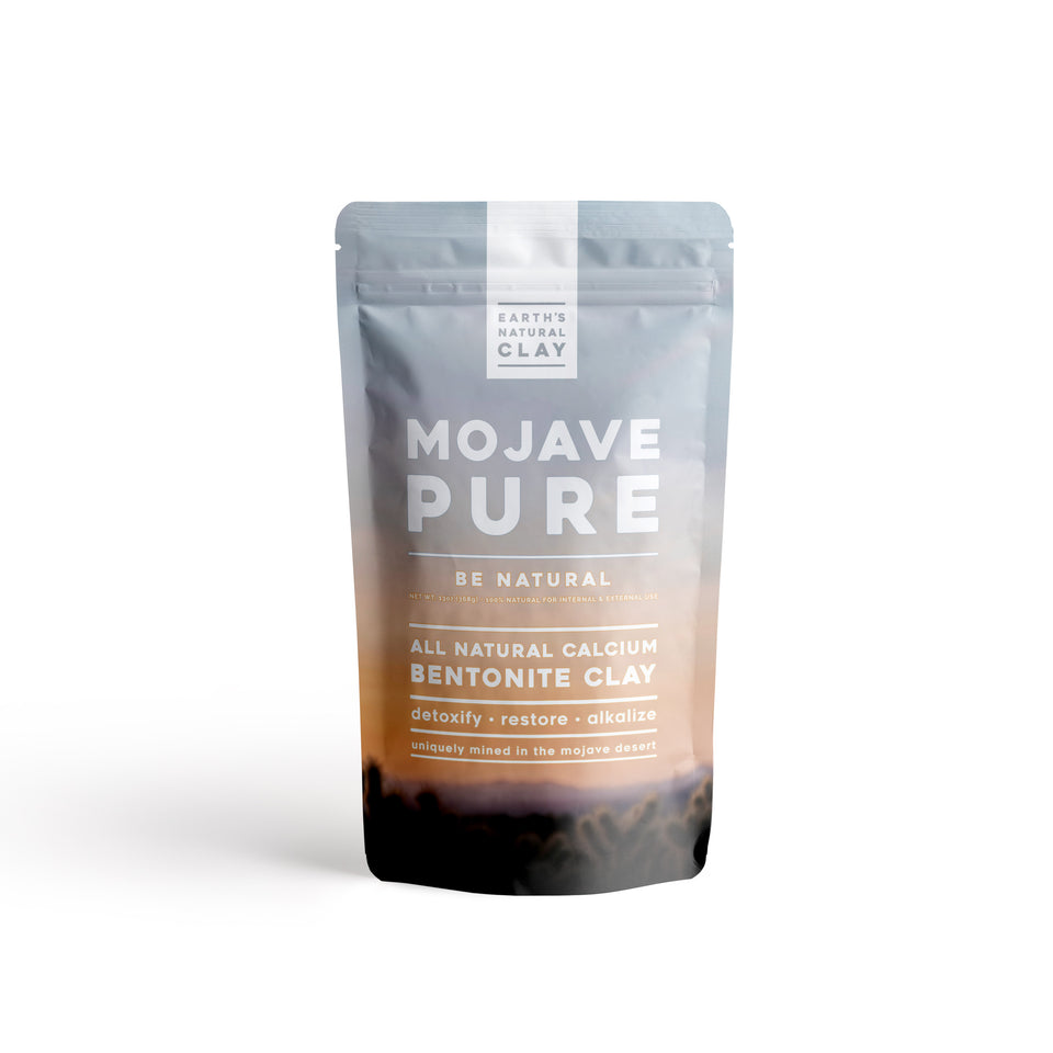 Mojave Pure All Natural Bentonite Clay - Internal & External Use - 13oz