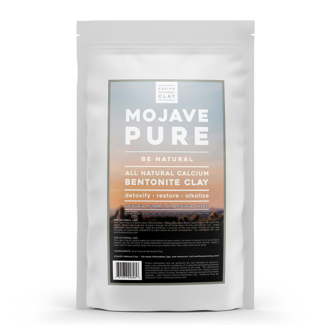 Mojave Pure All Natural Bentonite Clay - Internal & External Use - 64oz