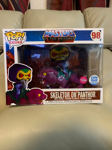 Funko Pop! LE Skeletor on Panthor Flocked