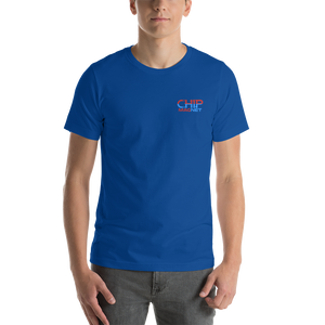 Red/Blue Stitched Logo