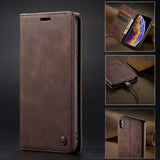 Samsung Wallet Phone Case Premium Leather Folio Flip