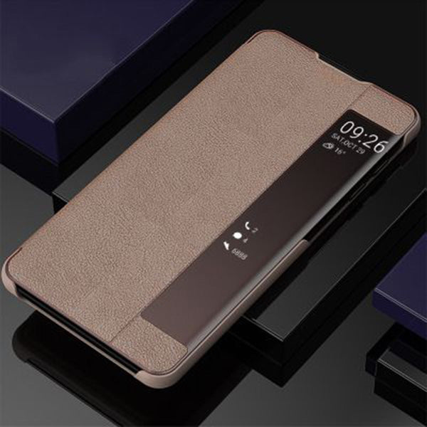 Samsung Phone Cases Side Window Leather Flip