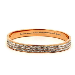 "To My Granddaughter""The Love Between a Nana and Granddaughter is Forever"" DIAMOND BRACELET"