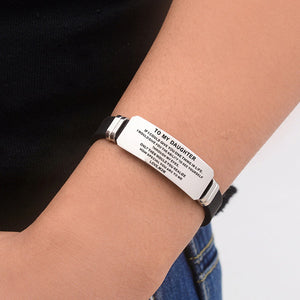 "[Custom Your Name or Words] To My Daughter ""Always Remember You Are Braver Than You Believe Stronger Than You Seem Smarter Than You Think and Loved More Than You Know ""BRACELETYou Seem Smarter Than You Think And Loved More Than You Know"" BRACELET"