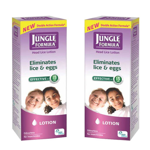 Jungle Formula Lotion 25 ml Head Lice & Eggs Treatment pack of 2