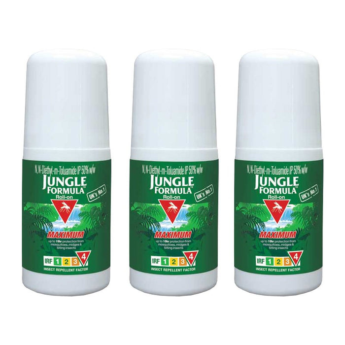 Jungle Formula Mosquito Repellent 50 ml Maximum Roll-On Pack of 3