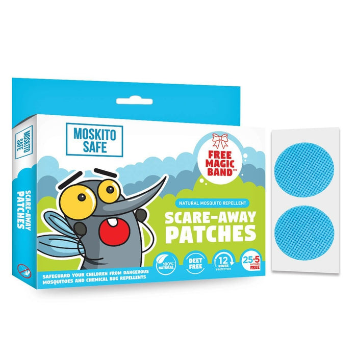 Moskito Safe Scare-Away Natural Mosquito Repellent Patches (30 (25+5) Patches)