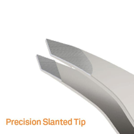 Tweezers With Slanted Edge by Slice - Stainless Steel