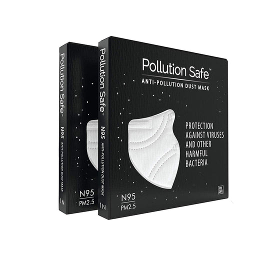 N95 Anti Pollution Dust Mask (White) - Pack of 2