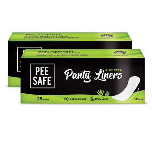Pee Safe Aloe Vera Panty Liners - Set of 2 (Pack of 50)