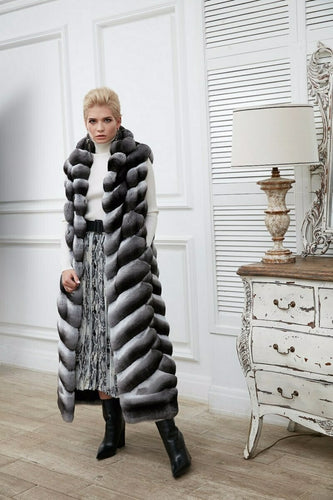REAL NEW CHINCHILLA ROYAL FUR VEST  MODEL CFS-008