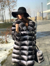 Load image into Gallery viewer, REAL NEW GENUINE CHINCHILLA ROYAL FUR COAT JACKET MODEL CFS-010
