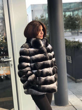 Load image into Gallery viewer, REAL NEW GENUINE CHINCHILLA ROYAL FUR COAT JACKET MODEL CFS-007