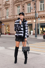 Load image into Gallery viewer, REAL NEW CHINCHILLA ROYAL FUR COAT JACKET  MODEL CFS-006