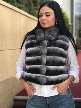 Load image into Gallery viewer, REAL NEW GENUINE CHINCHILLA ROYAL FUR VEST MODEL CFS-011